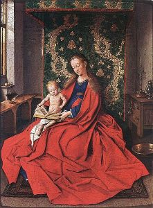 442px-Jan_van_Eyck_Madonna_with_the_Child_Reading