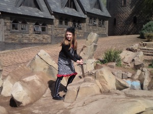 Emily the Strange takes on the Sword in the Stone.